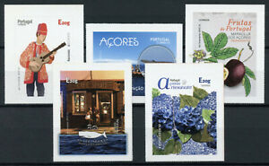 Portugal-Tourism-Stamps-2020-MNH-Azores-Fruits-Flowers-Music-Whales-5v-S-A-Set