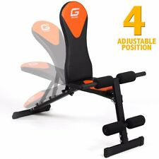 Adjustable Flat Incline Decline Bench Abs Weight Lifting Exercise Ab