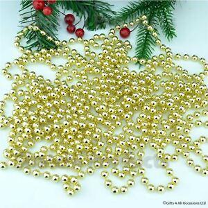24FT-oro-da-appendere-BARBA-Ghirlanda-per-albero-di-Natale-Natale-Decorazioni-Stringa-Decorazione