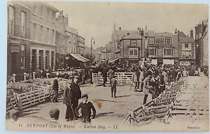 ISLE-OF-WIGHT-RARE-EARLY-1900s-POSTCARD-NEWPORT-MARKET-DAY-NO-11-LL-SERIES