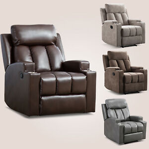 Manual-Recliner-Chair-PU-Leather-Theater-Home-Recliner-With-2-Cup-Holders-Sofa