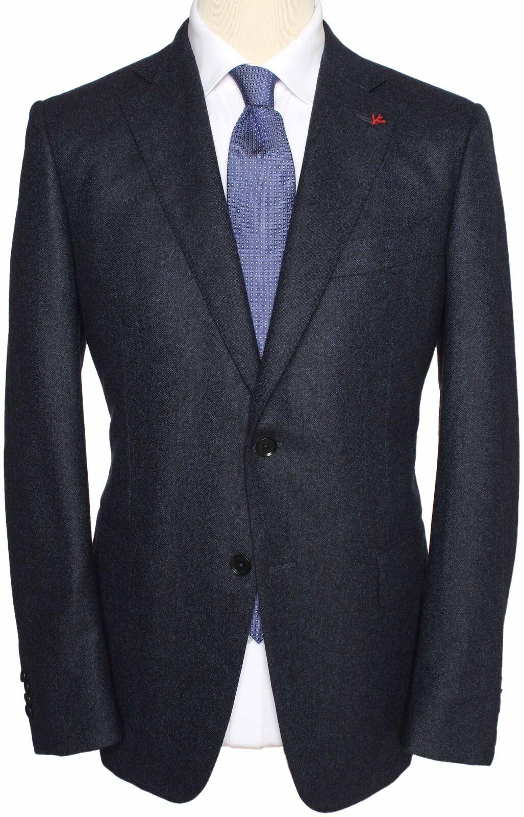 NWT ISAIA BLAZER jacket Gregory Blau wool pinpoint handmade  52 us 42