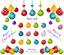 thumbnail 2 - Rainbow-Baubles-Christmas-Nail-Decal-Xmas-Water-Transfer-Sticker-Tattoo