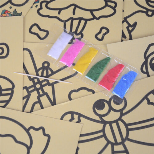 5PCS Kids DIY Colorful Sand Painting Art Creative Drawing for Children Toys XR
