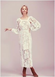 Sold Out Rare Alice Mccall Wwhite Crochet Youve Got The Love Dress