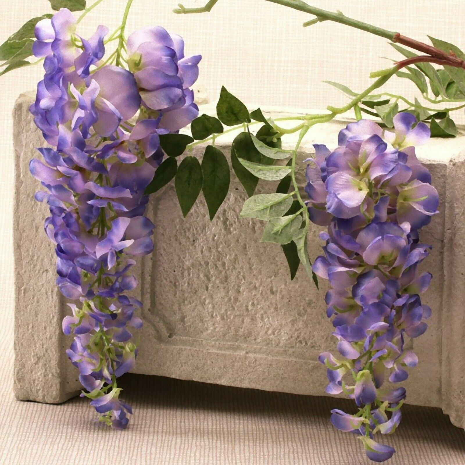 Wisteria 2 head lilac 90cm realistic quality wedding decor designer look home