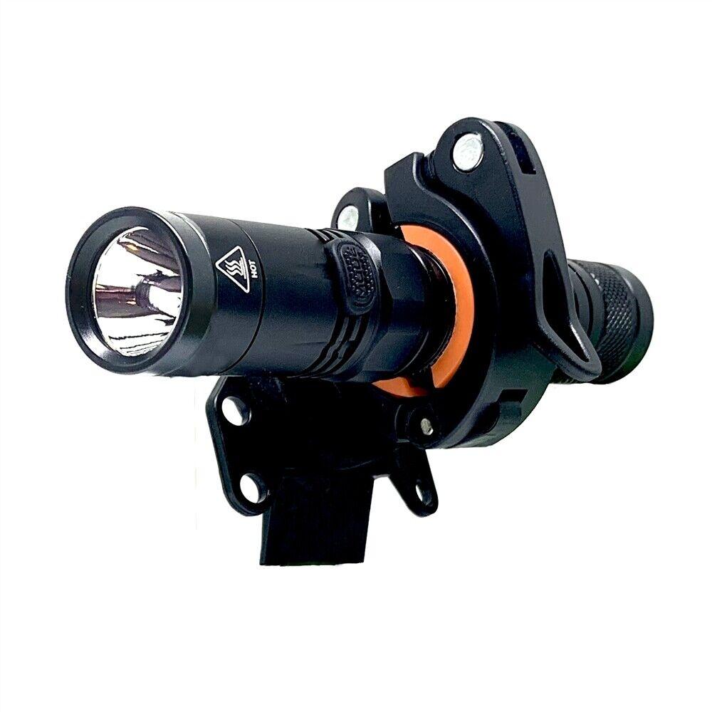 OPG 1800 Lumen Helmet Side  Mount Flashlight Petzl greenex 360 redation Pitch Roll  cheap sale outlet online