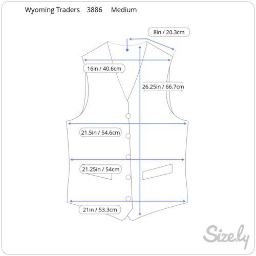 Wyoming Traders Mens Dark Tan Texas Canvas Conceal Carry Vest Small /& Medium