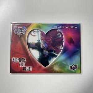 2016 Upper Deck Marvel Gems Diamond Cut Heart Black Widow #DCH-3