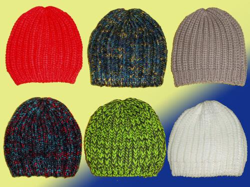 warme Damenmütze Mütze Strickmütze Wollmütze Wintermütze one Size Farbe wählbar