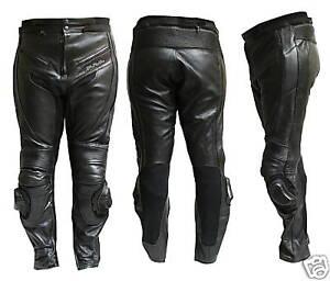 Pantalone-MOTO-PELLE-NERO-9200-PROTEZIONI-CE