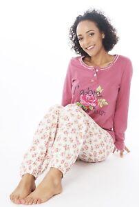sports shoes d7b40 dfe78 Details zu Damen Pyjama Schlafanzug DW901V Baumwolle Jersey Knopfleiste