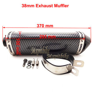 38mm Exhaust Muffler Removable Silencer For Chinese Pit Dirt Bike Motorcycle ATV