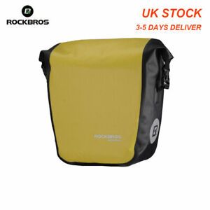 ROCKBROS Waterproof Pannier Bag Cycling Bicycle Travel  Rear Seat Carrier Yellow