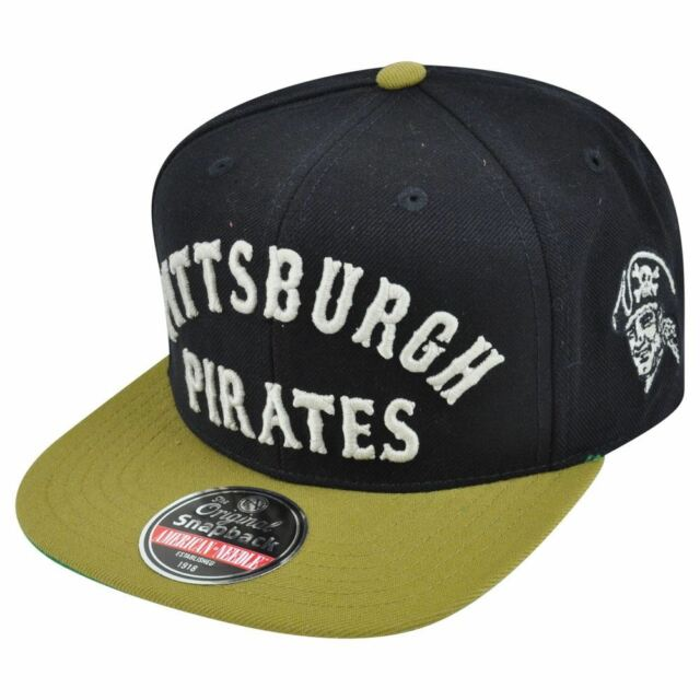timeless design 9a7fc 2692e MLB American Needle Pittsburgh Pirates Giant Chamber Throwback Snapback Hat  Cap