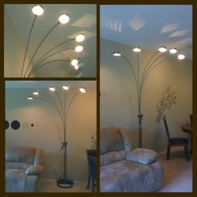 5 Arm Adjustable Arch Floor Lamp W Dimmer 84 Metal Living Room Reading Decor 9780764501777 Ebay