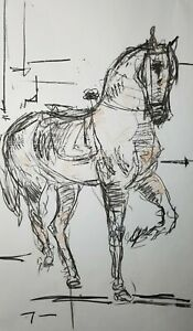 JOSE-TRUJILLO-HUGE-Art-Expressive-CHARCOAL-DRAWING-ORIGINAL-Figurative-Horse-3