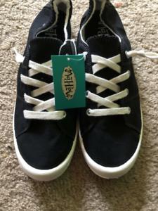 Women's Target Black Canvas Sneakers