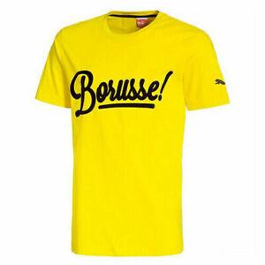 Dettagli su Puma BVB Borussia Dortmund a maniche corte da Uomo Tee Top T-shirt 745916 02 DD64- mostra il titolo originale