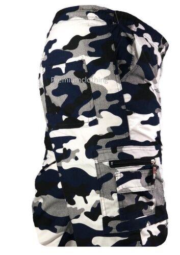 Boys Elasticated 3//4 Knee Length Shorts Cargo Combat Multi Pocket 3-14 years