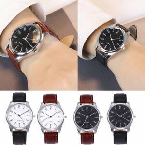 Luxury-Men-039-s-Quartz-Wrist-Watches-Leather-Watch-Strap-Analog-Slim-Dial-Casual