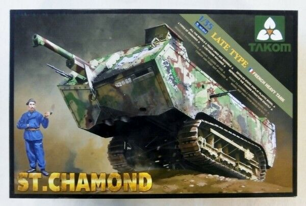 Takom 1 35 2012 ST CHAMOND FRENCH HEAVY TANK LATE TYPE