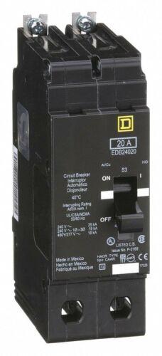 EDB24020 new Square D 20A circuit breaker 2-pole 480V 277V 240V 208V