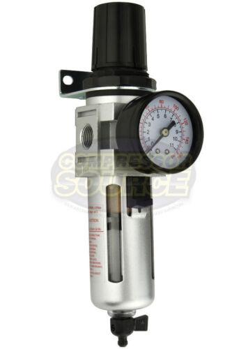 "3//8/"" Air Compressor Regulator /& Filter In Line Combo w// Gauge Compressed Air New"