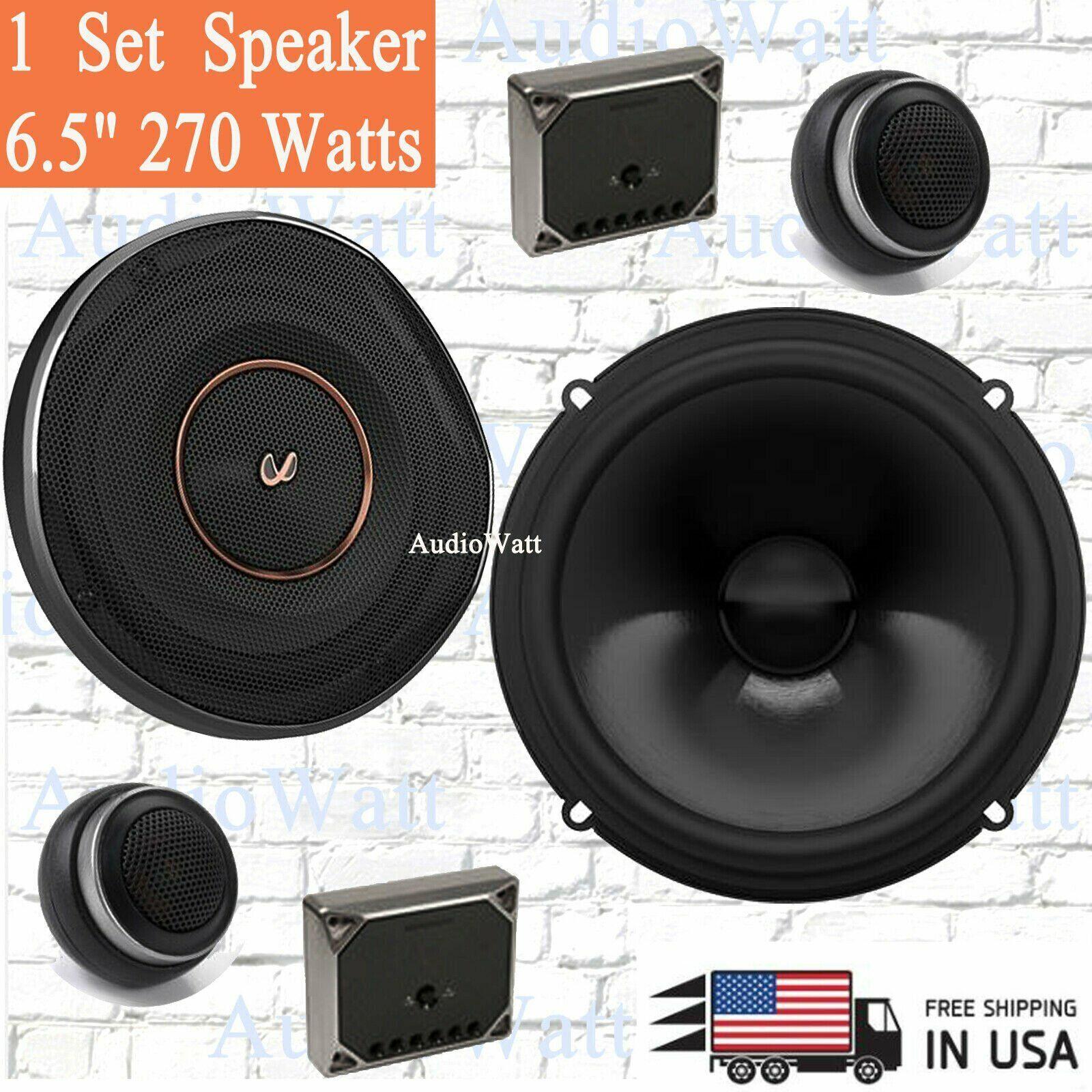 Car Speaker System >> Pair Infinity Ref 6520cx 6 5 270 Watts Component Car Speaker System