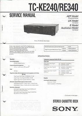 Analytisch Sony Service Anleitung Manual Tc-ke240/re340 B1323