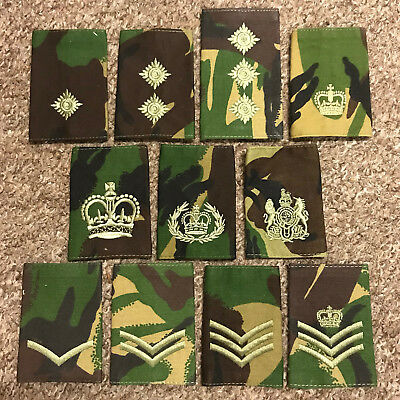 Pair British Military Army Royal Marines Green Subdued L//CPL Rank badges