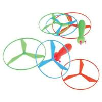 Dozen Assorted Color Helicopter Type Pull String Flying Disc Toys 5, New, Free