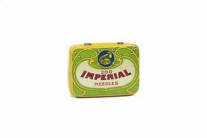 Mechanische Musik Industrious Antike Kleine Grammophonnadel Blechdose Nadeldose 200 Imperial Needles Dose