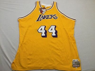 M6 New MITCHELL & NESS Los Angeles Lakers Jerry West Jersey MEN'S ...