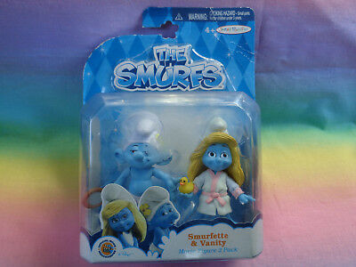 "THE SMURFS Jakks Pacific SMURFETTE /& VANITY  3/"" Figures 2 pack SEALED"