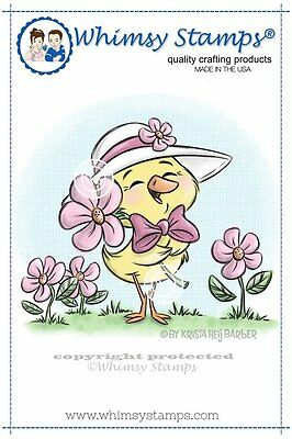 Whimsy Stamps - Cling Mounted Rubber Stamp - Spring Chick - LAST ONE
