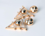 THE-STYLED-COLLECTION-PHOENICIAN-DANGLES-EARRINGS-NEW-GOLD-TONE-WITH-CRYSTALS thumbnail 2