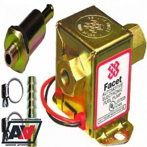 Replacement-Facet-Cube-Fuel-Pump-amp-Filter-Kit-For-Low-Pressure-Carbs-2-4-Psi-12v