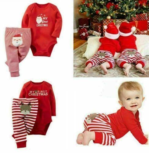 Weihnachten Sets Neugeborene Baby Jungen Mädchen Strampler Overall Hose Rentier