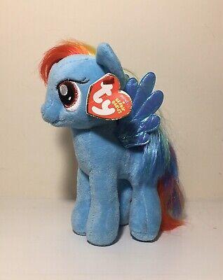 """RAINBOW DASH 7/"""" Plush - My Little Pony TY Beanie Babies New w// Tag"""