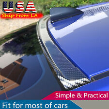 Universal Carbon Fiber Spoiler Wing Rear Sunroof Window Tail Lip Trim Sticker Fits Toyota Yaris