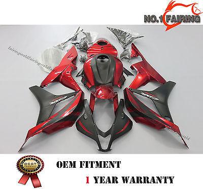 Matte Black Fairing Kit For Honda CBR 600RR 2007 2008 ABS Injection Body Bolts