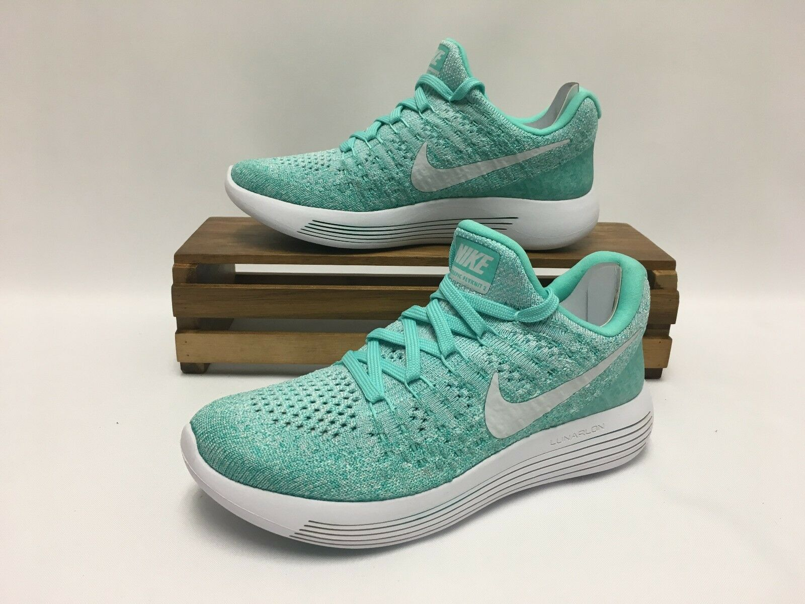 Nike Lunarepic Low Flyknit 2 Running Shoes 863780-301 Women's Size 5 NEW