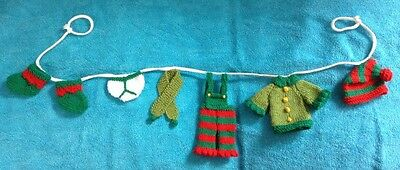 Christmas Jumper 1m long washing line decoration garland KNITTING PATTERN