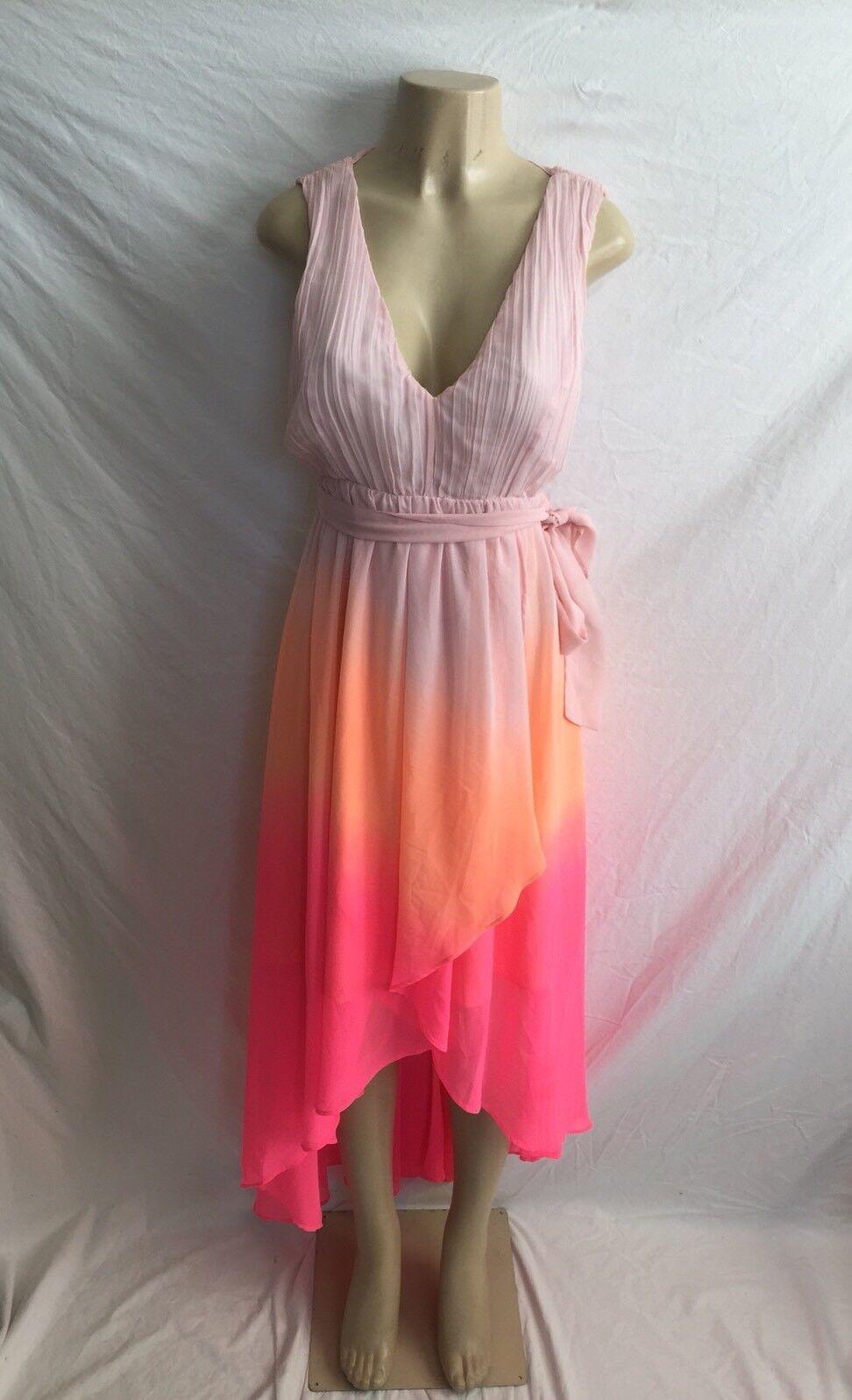 Victoria's Secret damen's Größe 2 Sleeveless Shades Of Rosa Ombré Hi-Lo Dress