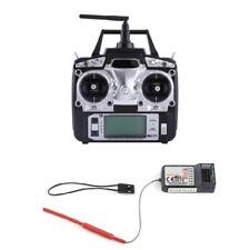 Schwarz Flysky FS-T6 2.4GHz 6 Kanäle Drohne Fernsteuerung Sender Flugzeug AGP