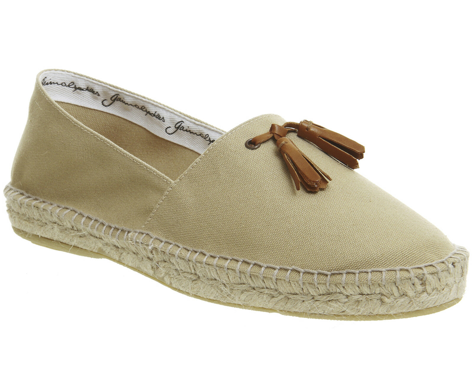 Mens Poste Felice Tassel Espadrilles Beige Canvas Casual shoes
