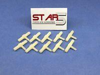 Dental Fitting Connector 1/8'' X 1/8 X 1/16 Barb Plastic Set /10 Pcs Star5