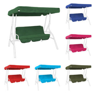 Replacement 2 Seater Swing Seat Canopy Cover And Cushions Set Garden Hammock Ebay