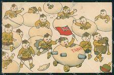 Militari WWI Propaganda Scottish Children Eggs cartolina XF0453